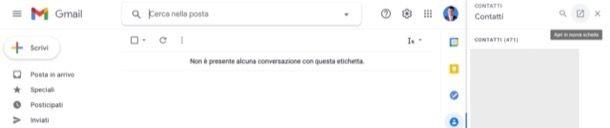 Accedere ai contatti Gmail