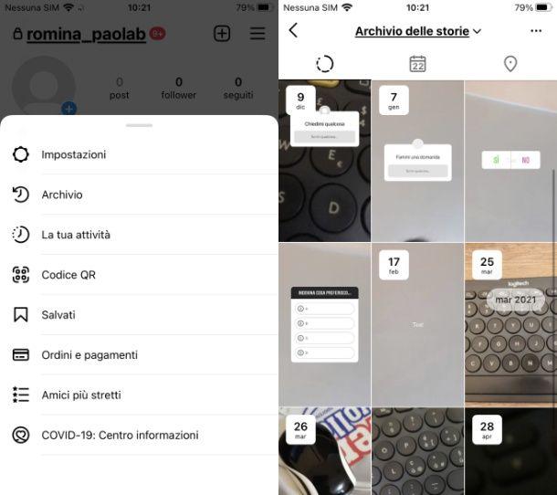 Come condividere una storia vecchia su Instagram