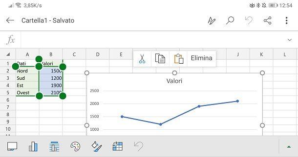 Grafico su app Excel