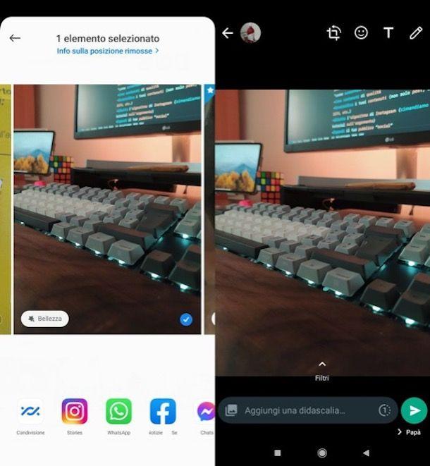 Inviare foto su WhatsApp Android dalla Galleria