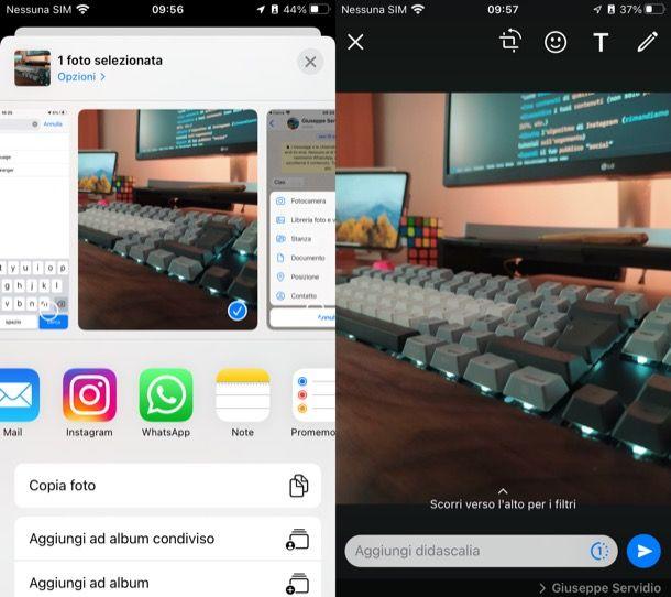 Inviare foto su WhatsApp iPhone dal Rullino