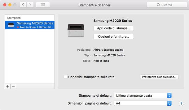 Come tracciare quello che viene stampato su Mac