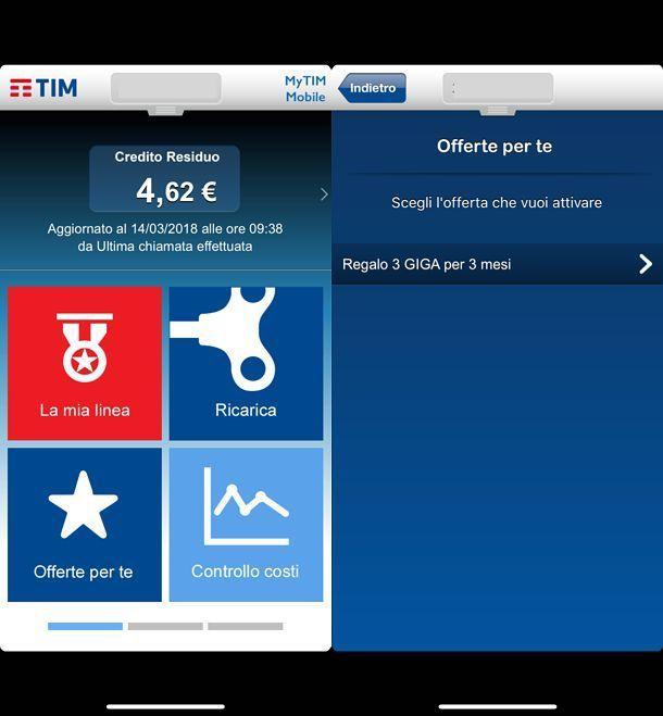 Come aggiungere Giga TIM tramite app