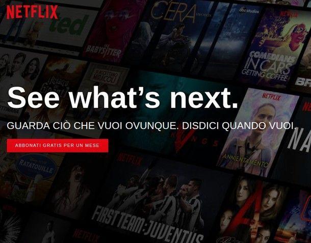 Come iscriversi a Netflix da PC