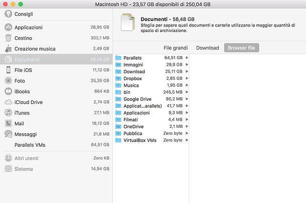 Come ordinare le cartelle in base alle loro dimensioni su Mac