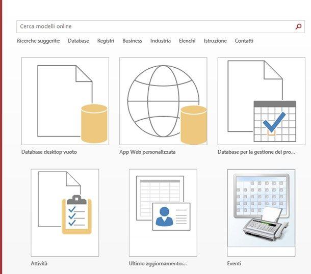 Come usare Access - Creare un database