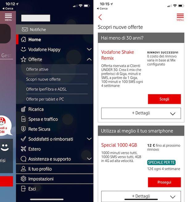 Come cambiare piano tariffario Vodafone
