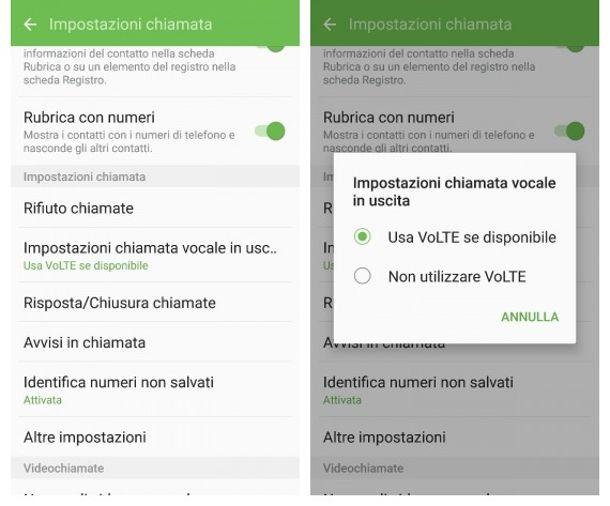 Come disattivare VoLTE su Android