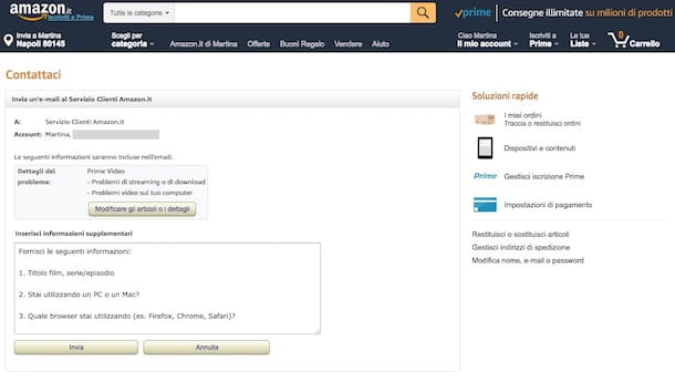 Come contattare Amazon in caso di problemi