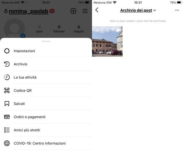 Instagram archivio Post