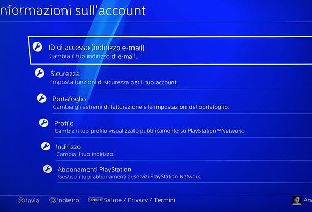 Come personalizzare account PlayStation Network