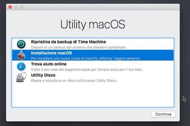 Come disinstallare un aggiornamento Mac