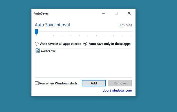 Come salvare automaticamente i file aperti