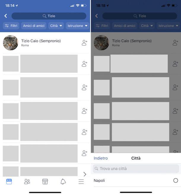 Come trovare una persona su Facebook sapendo solo il nome
