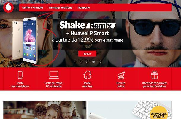 SMS anonimi Vodafone