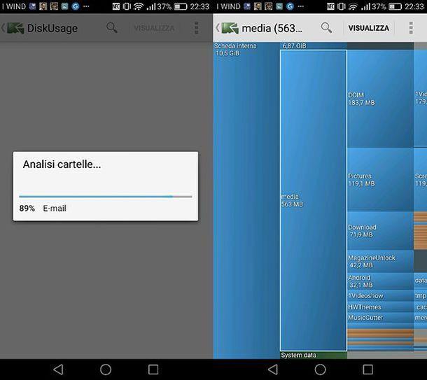 Come ordinare le cartelle in base alle loro dimensioni su Android