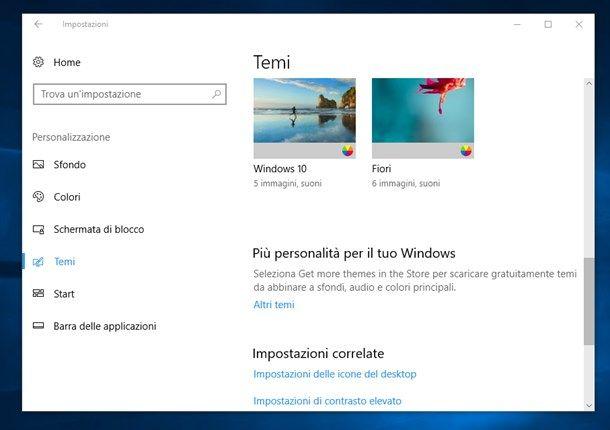 Ripristinare le icone sul desktop