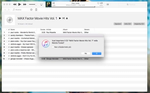 Copiare un CD audio su chiavetta USB con macOS