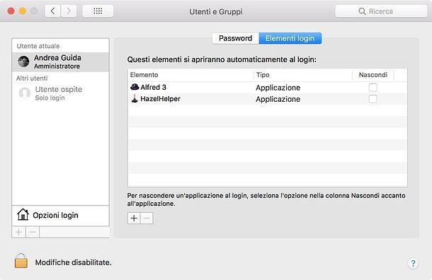 Come aprire programmi all'avvio Mac