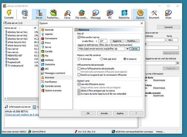 Come scaricare lista server eMule