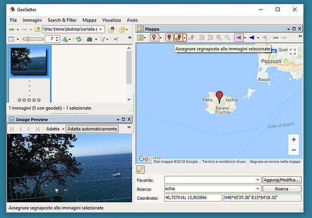 Geotaggare le foto su PC