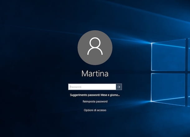 Come cambiare password Windows 10