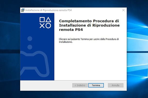 Installazione Riproduzione remota PS4 Windows