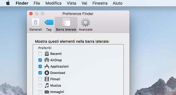 Come cancellare lista file aperti macOS