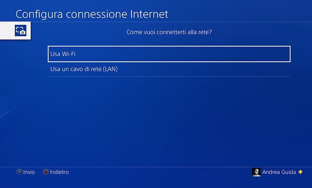 Connessione PS4