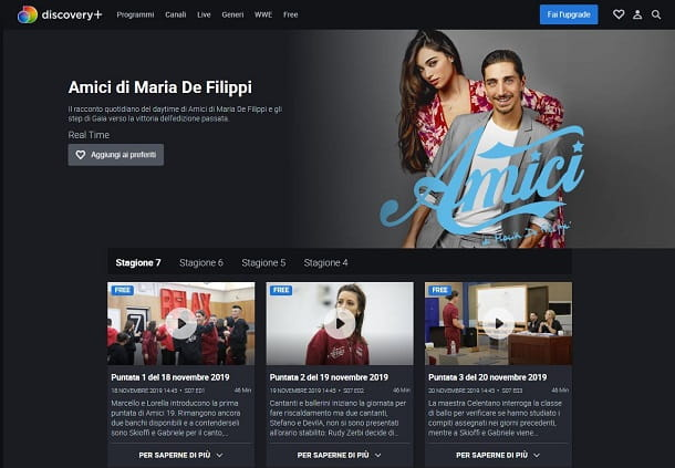 Discovery plus amici
