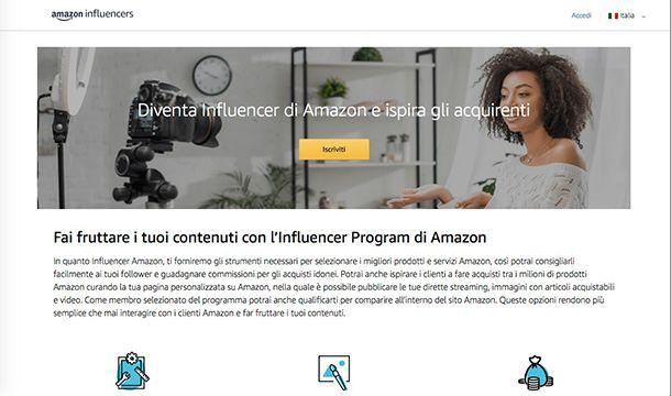 Come gudagnare con Amazon Influencers