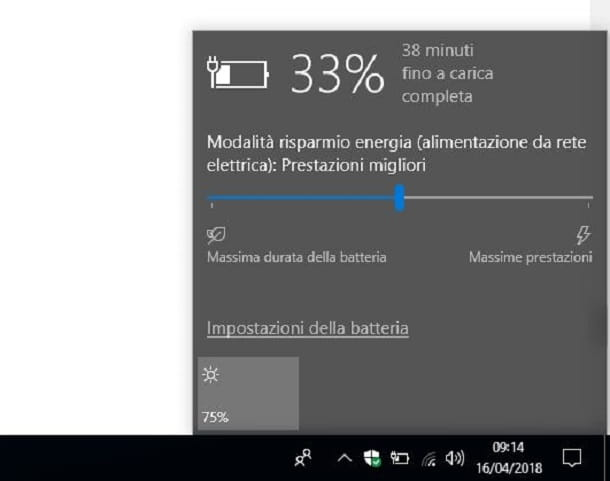 Risparmio energetico Windows 10