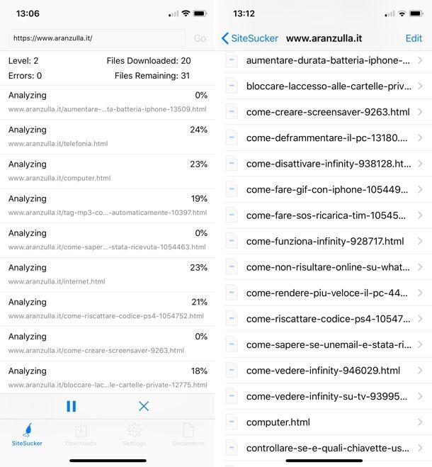 Come scaricare siti su iOS