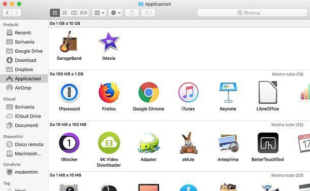 Come liberare spazio su disco rigido Mac