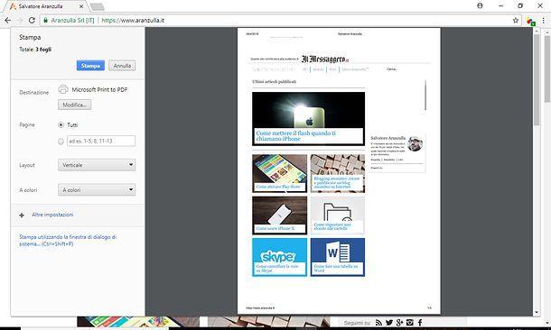 Come copiare una pagina Web