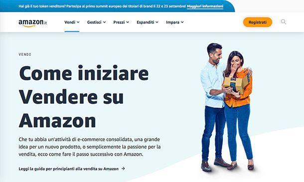 Come guadagnare su Amazon creazione account venditore