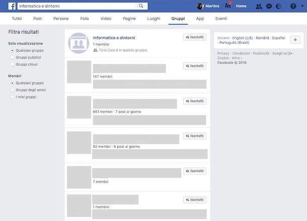 Come trovare un gruppo segreto su Facebook