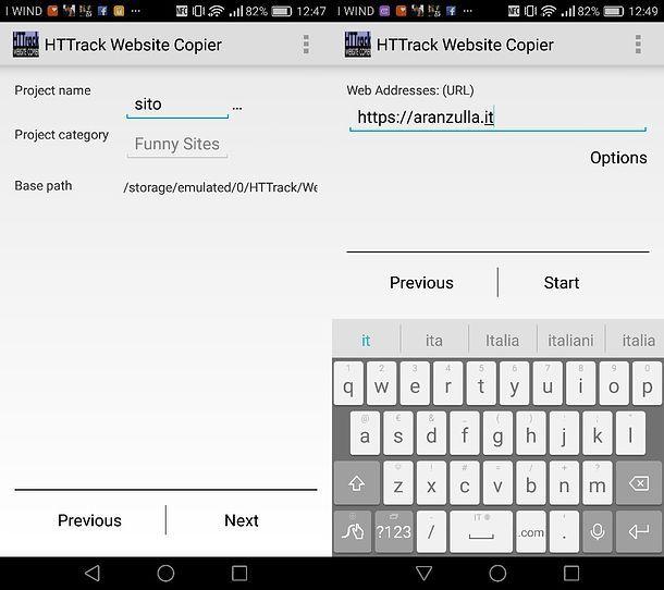 Come scaricare siti su Android