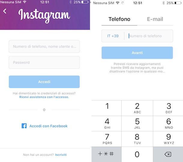 Come togliere numero di telefono da Instagram