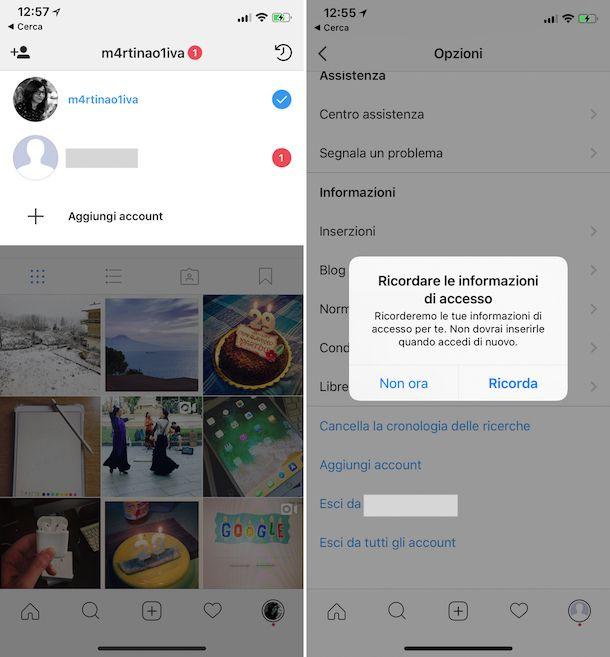 Come creare un altro account Instagram