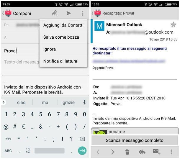 Come sapere se un'email è stata ricevuta su Android