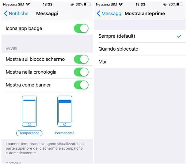 Blocco notifiche WhatsApp