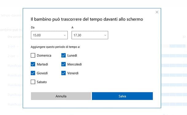 Come limitare l'orario di utilizzo di un computer