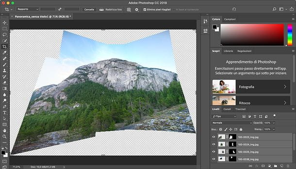 Come fare foto panoramiche con Photoshop