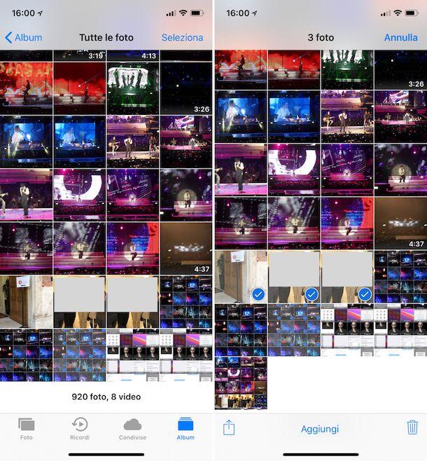 Come selezionare tutte le foto su iCloud