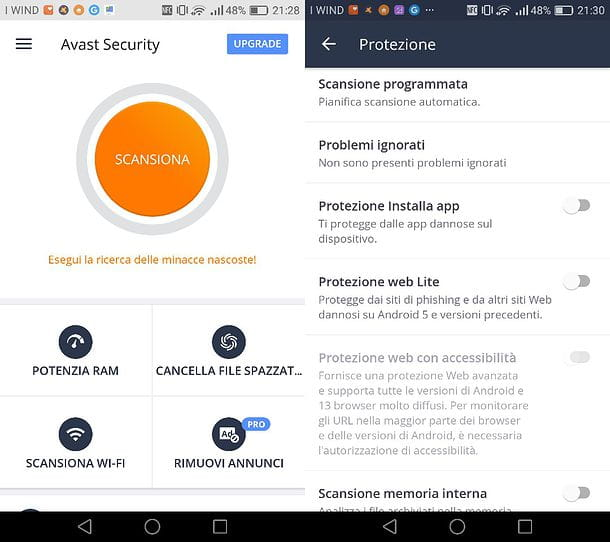Come disattivare antivirus Android