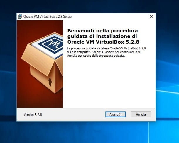 Come installare VirtualBox