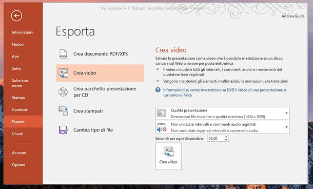 Come convertire PowerPoint in DVD
