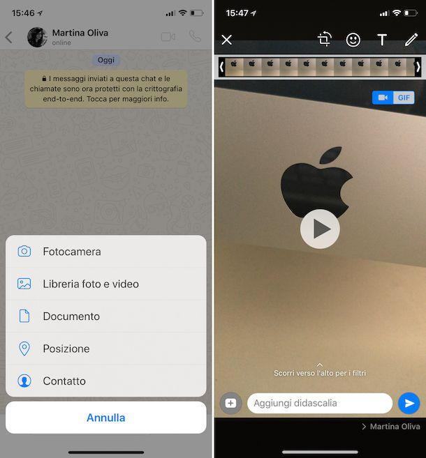 Come condividere un video su WhatsApp
