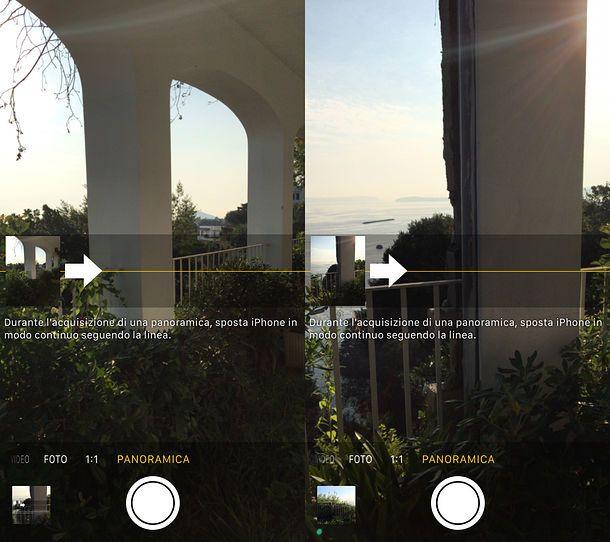 Creare foto panoramiche su smartphone